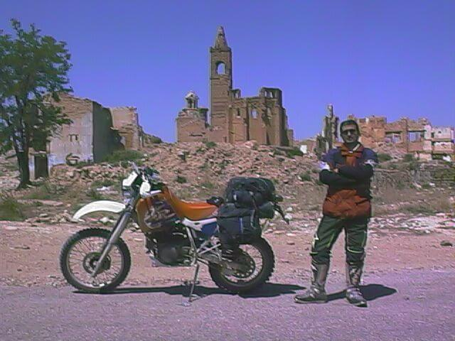 Post 1.20 years ago on dirt roads and abandoned villages in a HONDA XR600