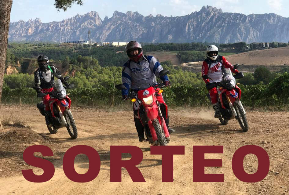 Rent and route raffle with the HONDA CRF250Rally