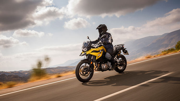 Moto BMW F750GS on the road
