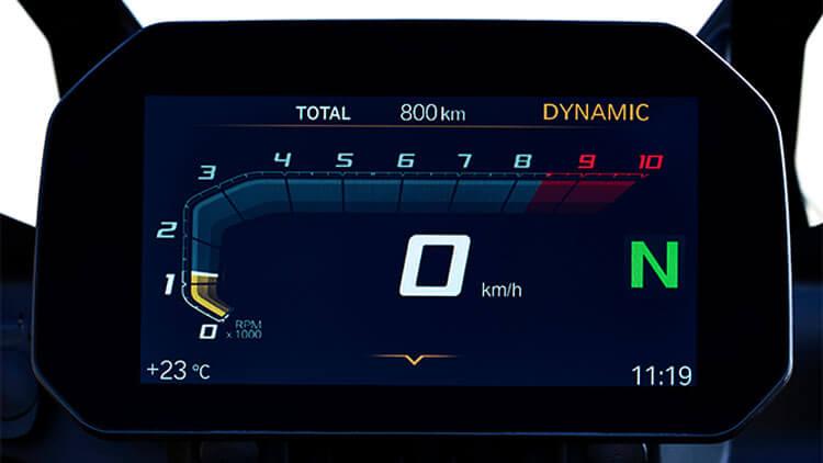 Detalle Pantalla Moto BMW F850GS