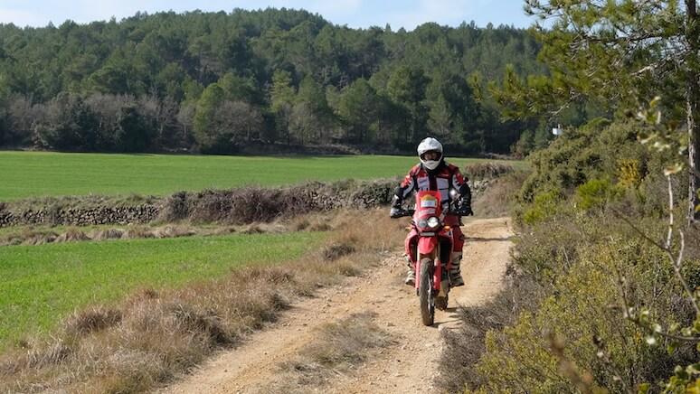 Honda moto offroad de alquiler