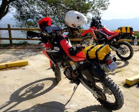 Bolsas para moto offroad