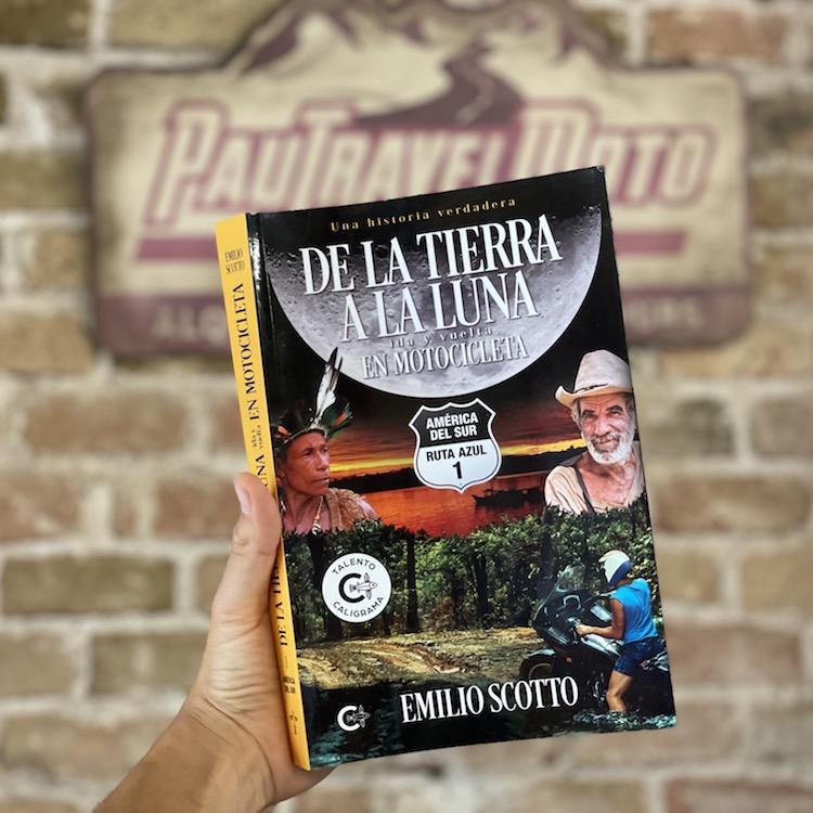 Libro De la tierra a la luna ida y vuelta en motocicleta
